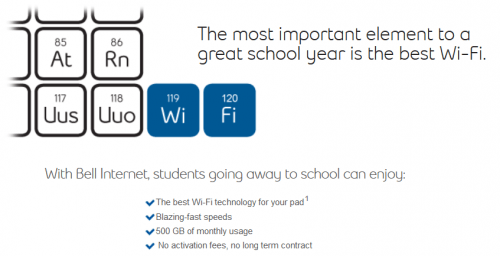 Bell Canada Back To School Deals: Bell Fibe Internet from $39 95 for