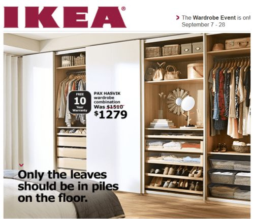 Superbe Itu0027s Hard To Keep Closets And Wardrobes Clean And Organized, But Ikea Canada  Has A Great Sale On Right Now That Will Help You Do Just That!