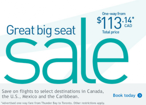 Stuff your stockings with savings - save now on select Canadian and U.S. destinations.
