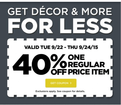 Save on crafts coupon code
