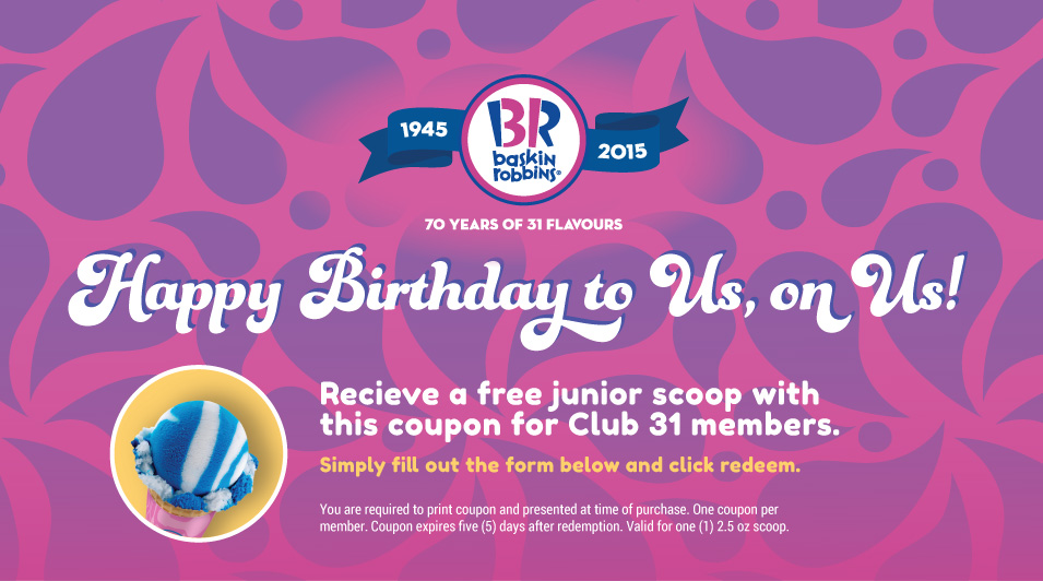 photo relating to Baskin Robbins Printable Coupons referred to as Baskin Robbins Printable Freebie Coupon: Cost-free Ice Product