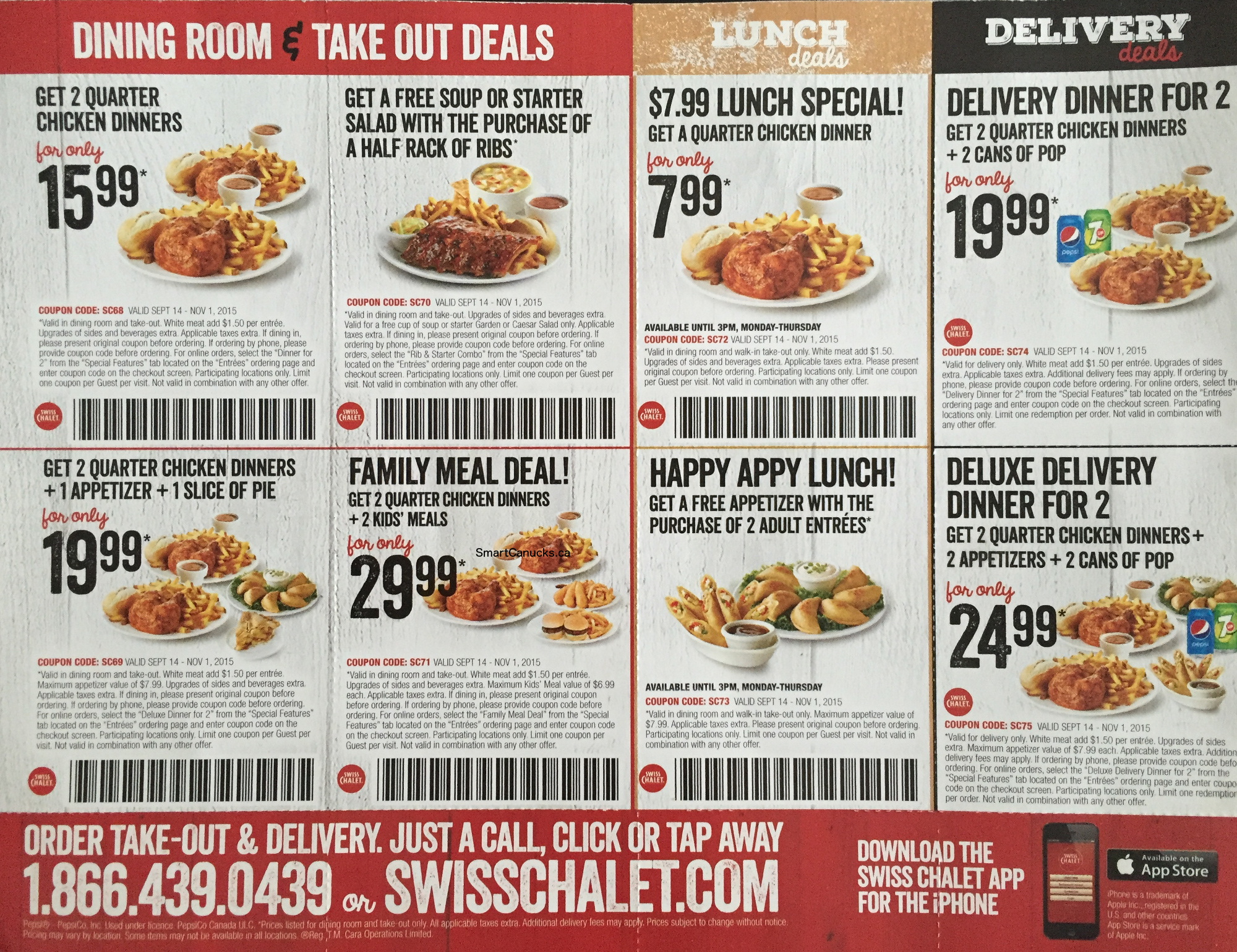 swiss chalet toronto coupon code