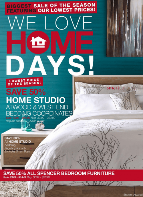 Home Outfitters Canada Home Days Deals Save Up To 62 Off Free 20 Cash Card For Every 75