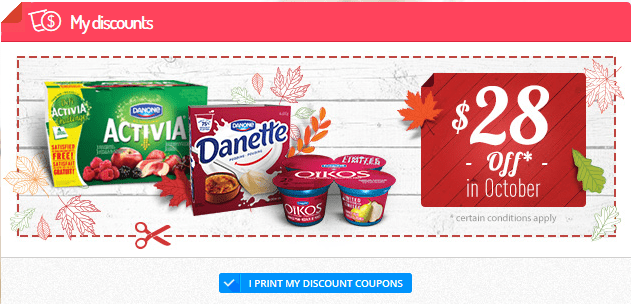 October Danone Coupons