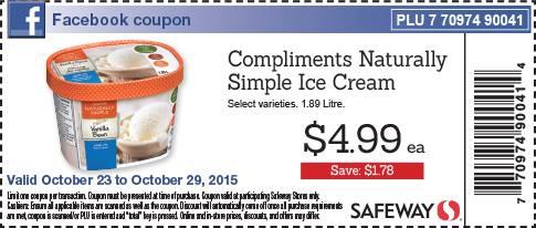 Safeway canada facebook coupon compliments naturally for Gardening naturally coupon