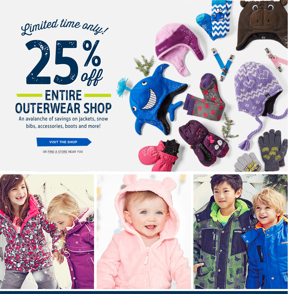 cd2c45667 Carter s OshKosh Canada Sale  25% OFF Outerwear for Babies