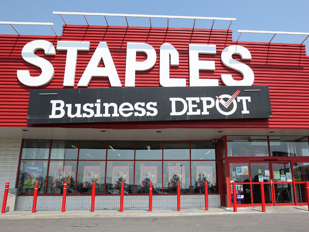 Staples Canada Inc. (also known in Quebec as Bureau en Gros; formerly known as The Business Depot and later Staples Business Depot) is a Canadian office supply retail chain, part of the United States-based office supply company Staples Inc. The Canadian operation .