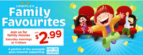 Cineplex Canada Family Favourites Deals Movies Every Saturday