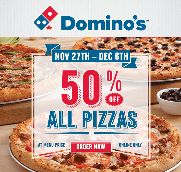 Dominos black friday coupons
