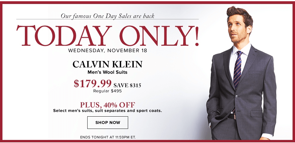 Hudson's Bay Canada Black Friday Pre Sale: Save $315 On Calvin