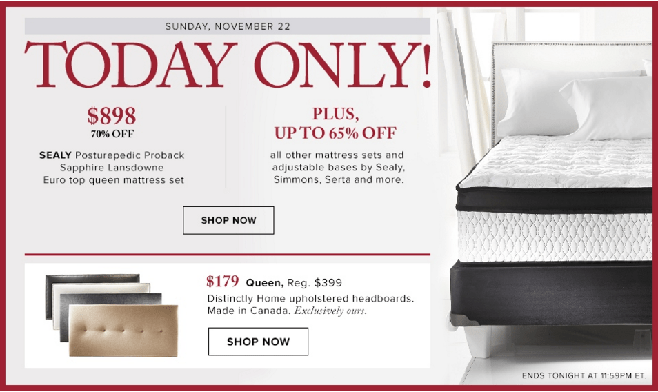 Up to 70% off Black Friday Weekend Sale @ The Bay