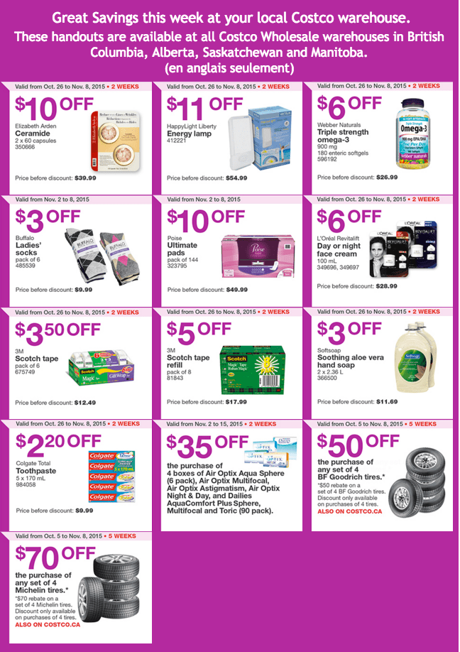 Costco Canada Weekly Instant Handouts Coupons Flyers For