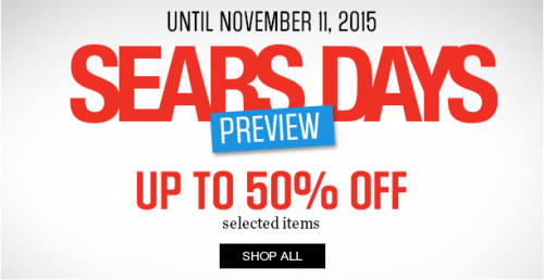 48f57dda841f Sears Canada: TODAY only Up to 50% Off Select Items for Sears Day ...