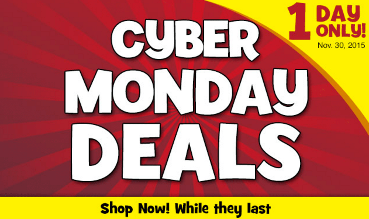 Cyber Monday Cyber Monday is on it's way. Bookmark this page and come back to find all the best deals on gifts and popular holiday products.