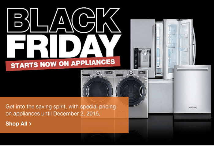 home depot canada black friday 2015 sneak peek deals on appliances today only save on storage. Black Bedroom Furniture Sets. Home Design Ideas