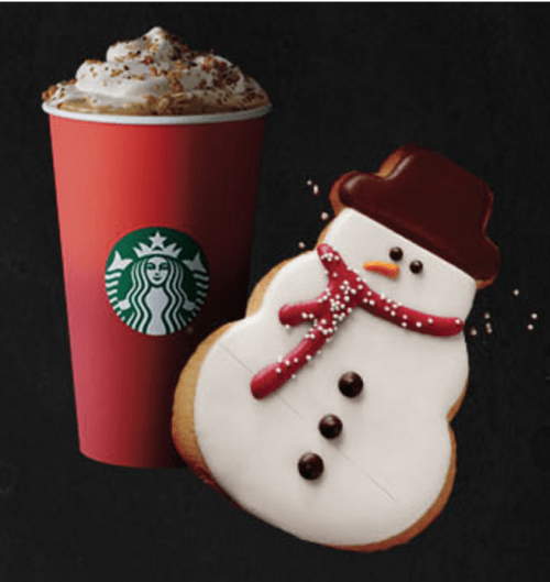 Starbucks Canada Merry Monday , November 23