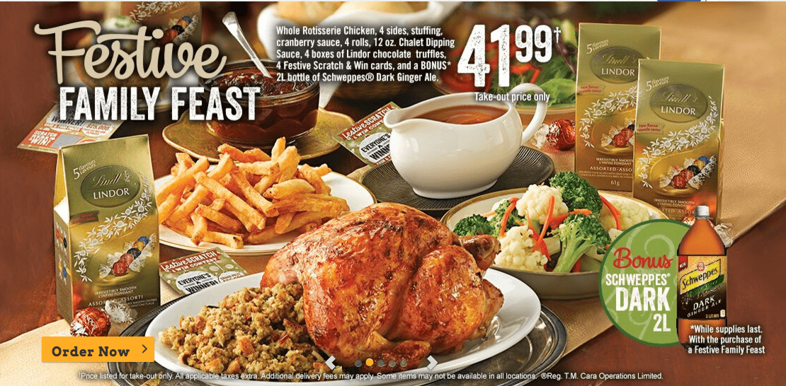 Swiss Chalet Canada Deals: Get Festive Family Feast For Only