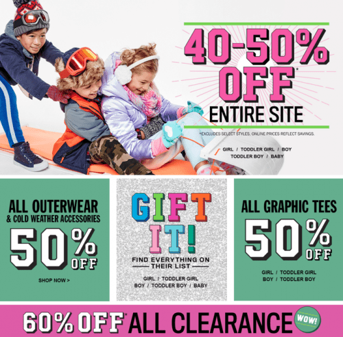 The Children's Place Canada offers free shipping in all orders all the time. Usually you can find a promotion for an additional percentage off your order and the coupon code needed to take advantage of it at the top of their homepage.