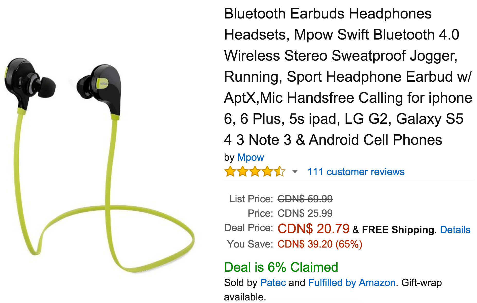 Amazon Canada Today S Deals Save 65 On Bluetooth Earbuds Headphones Headsets Up To 63 Off Select Furreal Friends Pets Canadian Freebies Coupons Deals Bargains Flyers Contests Canada