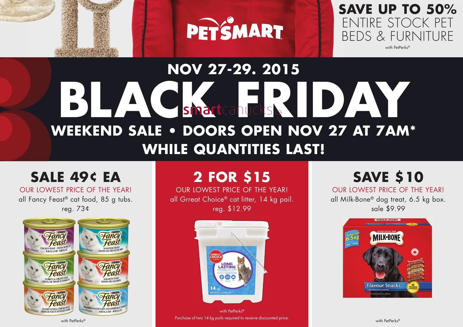 PetSmart is a large chain of stores operating all throughout North America, offering live pets, pet products to retail consumers since Typical pet products include food, litter, grooming aids, apparel, collars leashes, toys and much more.