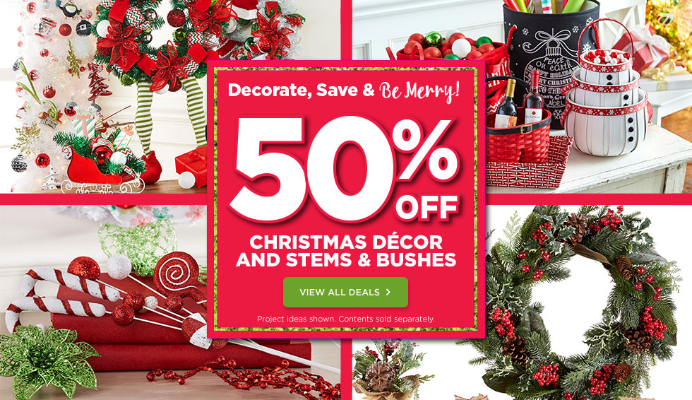 Michaels Canada Deals: 50% Off Christmas Decor, Plus 50
