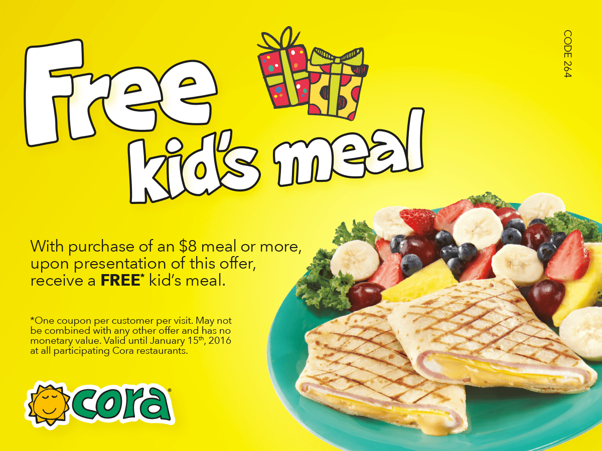 cora breakfast lunch holiday promotional coupons kid s cora christmas promotion