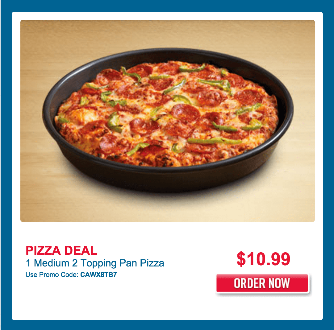 Dominos coupons fresh pan pizza