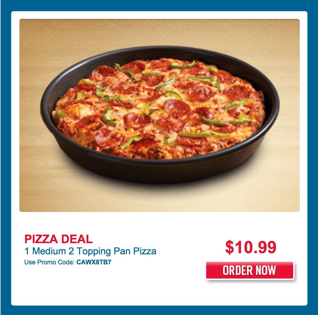 dominos 2 medium pizza coupon