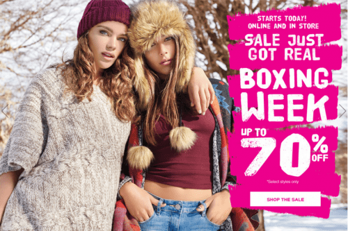 Garage Canada 2015 Boxing Day Sale