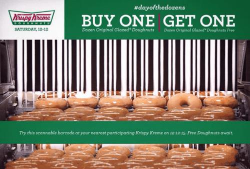 krispy kreme doughnuts canada promotions buy 1 dozen. Black Bedroom Furniture Sets. Home Design Ideas