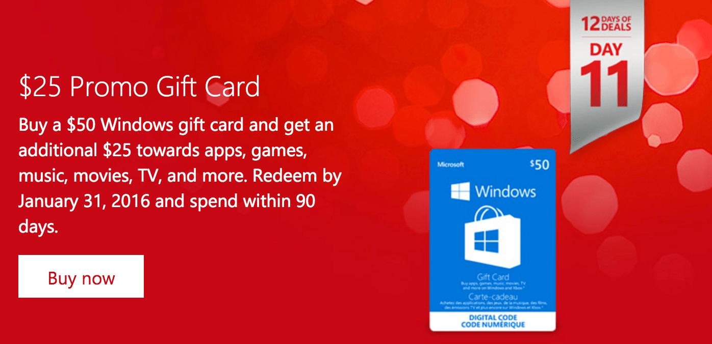 Microsoft Canada 12 Days of Deals: FREE $25.00 Windows Digital ...