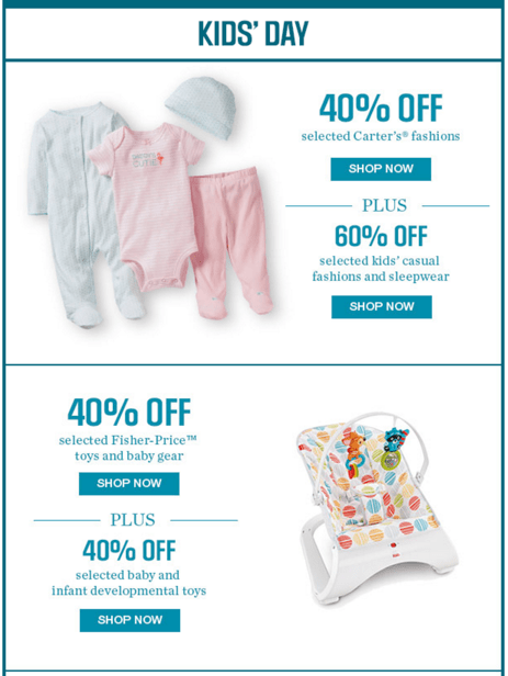 Sears Canada Daily Deals Kid's Day