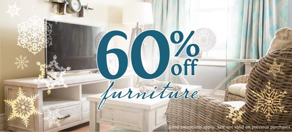 Wicker emporium canada holiday sale save up to 60 on for Home decor 70 off