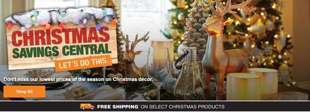 Home depot canada deals save up to 50 off christmas for Christmas decorations home bargains