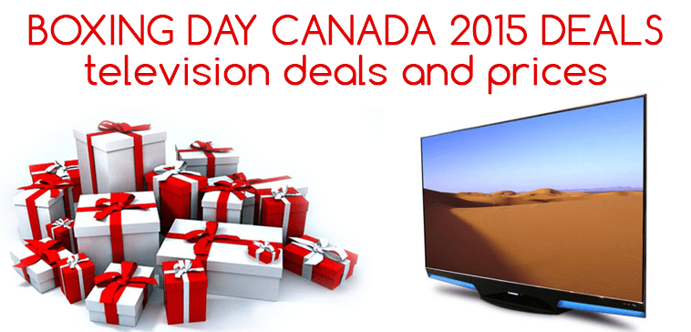 Television tv boxing day week 2015 deals and prices in for Boxing day meuble leon