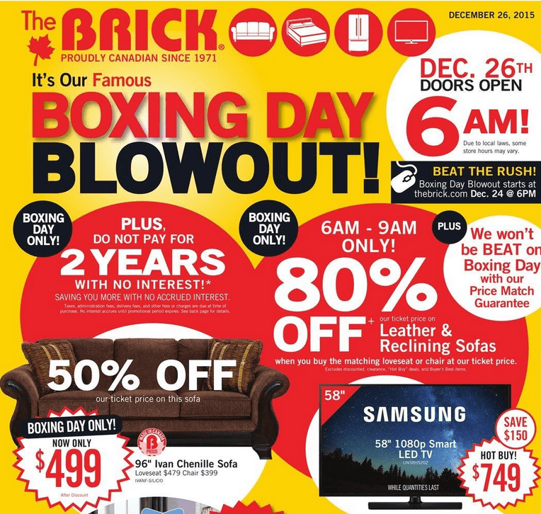 The Brick Canada Boxing Day 2015 Deals Amp Flyer Sneak Peek