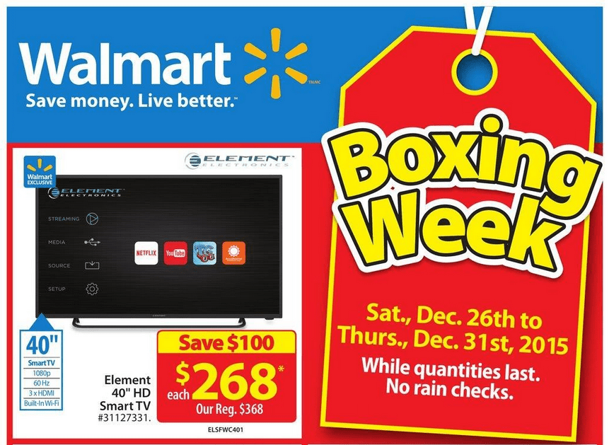 Walmart Canada Boxing Day Sales & Deals – The much-awaited sales of the year Walmart Boxing Day Sales is here for you. Walmart Boxing Day Sales is a variety of mind-blowing deals and discounts both online and in stores, it's your one-stop shop for the Biggest Shopping Day of the Year.