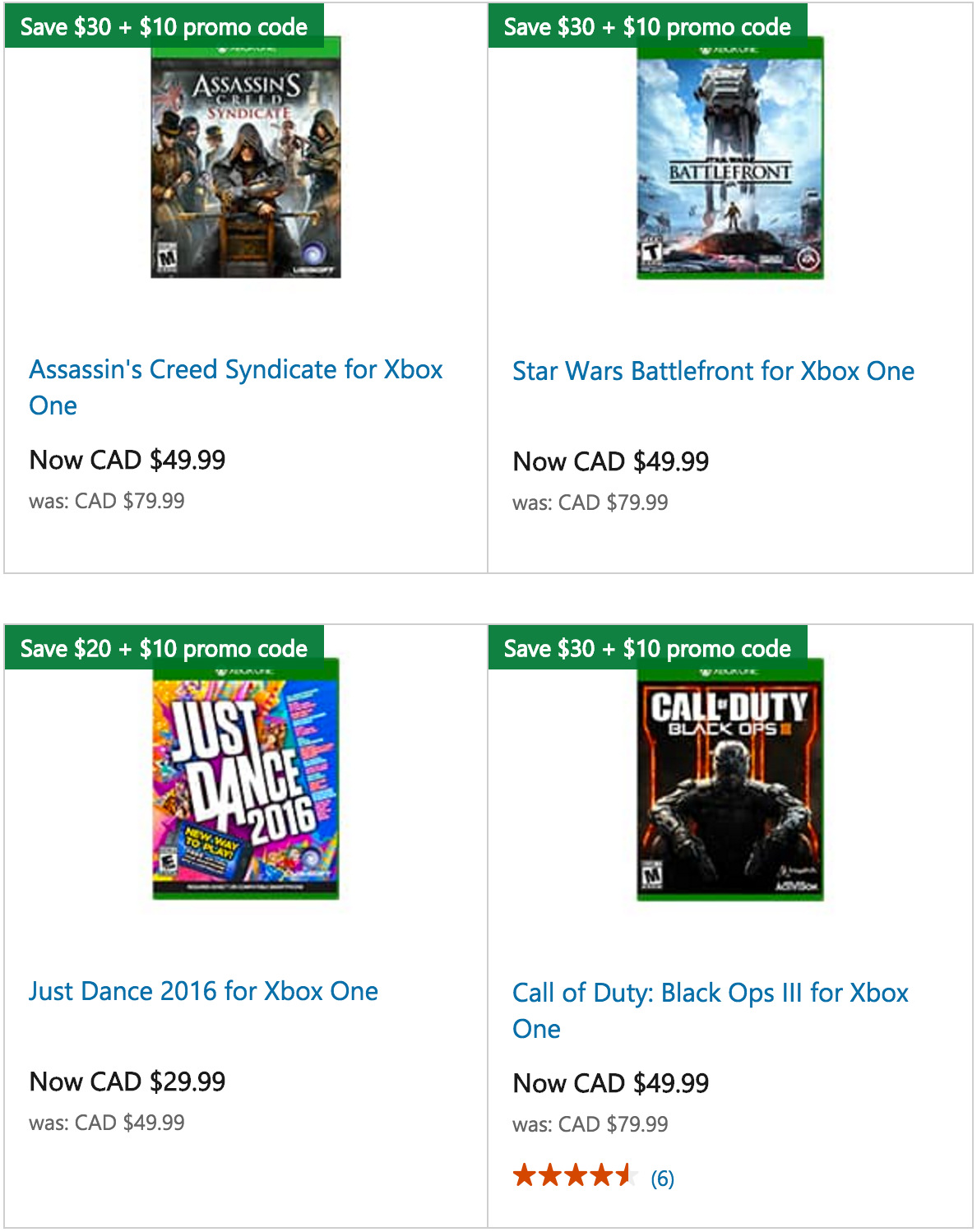 microsoft store canada xbox one game deals save up to 40 extra