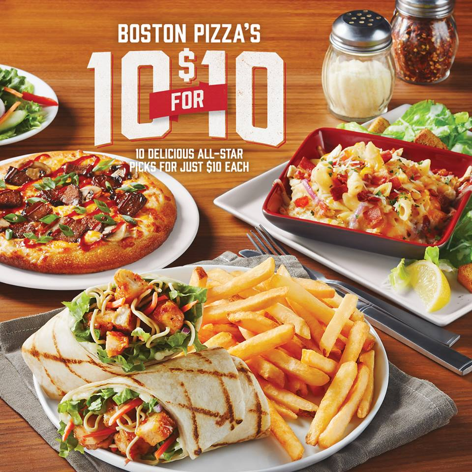 Boston Pizza Canada Deals: 10 Great Options For Only $10 ...