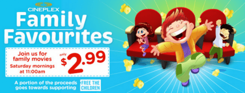 Cineplex Family Favourites CanadaOffers