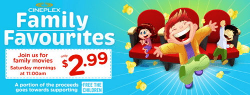 Family Favourites Cineplex Deals
