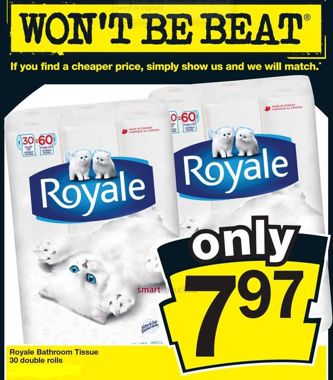 Royale 7.97 30 double rolls no frills