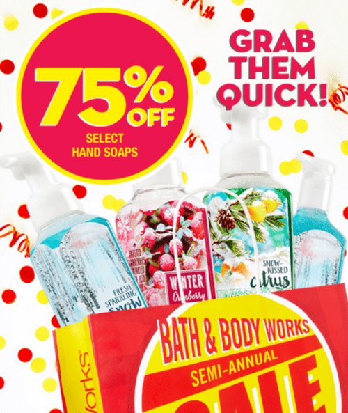 Bath & Body Works Canada Semi-Annual Sale: Save 75% Off Select Hand Soaps, Wallflowers Fragrance ...