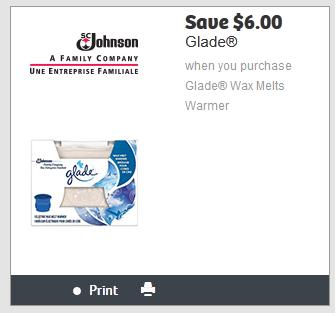 graphic regarding Glade Printable Coupons titled Canadian Coupon codes: $6 Off Glade Wax Melts Hotter Again Upon