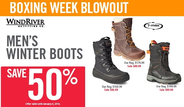 d5f05a491 Mark's Canada Boxing Week Sale: Save 50% Off Men's WindRiver Winter ...