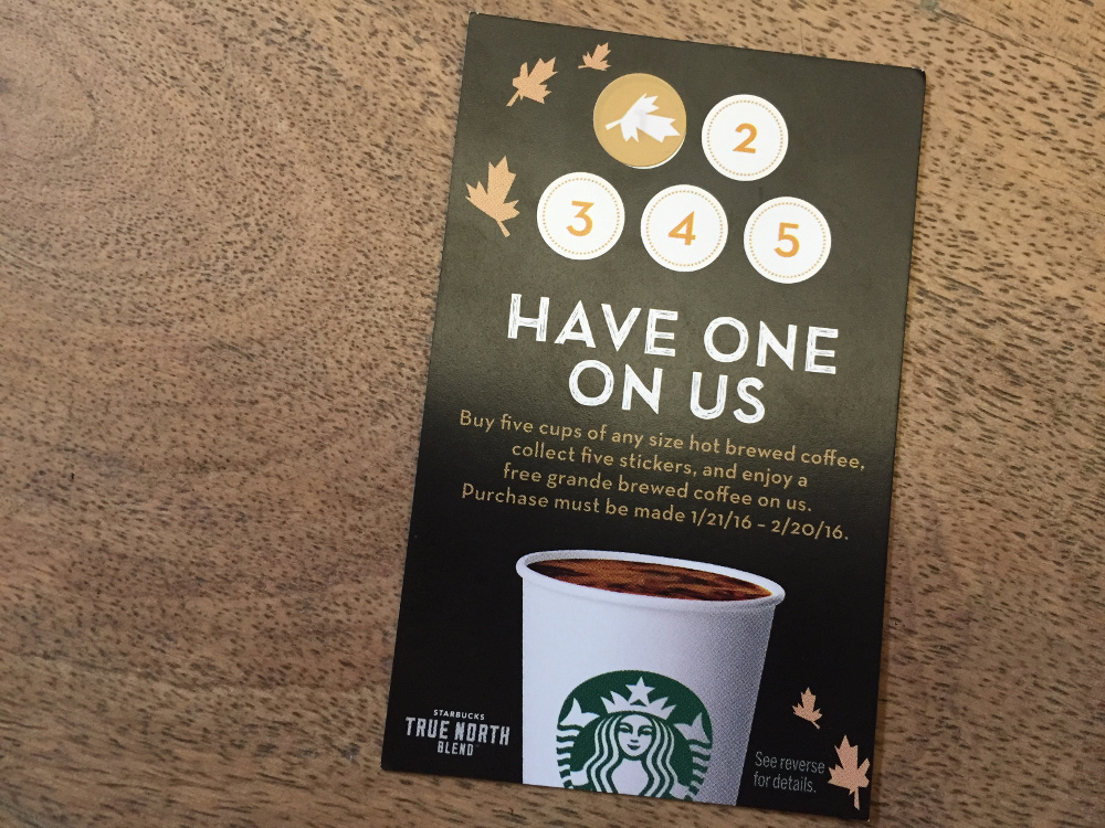 Starbucks is offering Buy One Get One Free Any Frappuccino or Espresso Beverage (Grande or Larger) during Happy Hour with the deal. Deal valid 9/27/ Starbucks is offering Buy One Get One Free Any Frappuccino or Espresso Beverage (Grande or Larger) during Happy Hour with the deal.