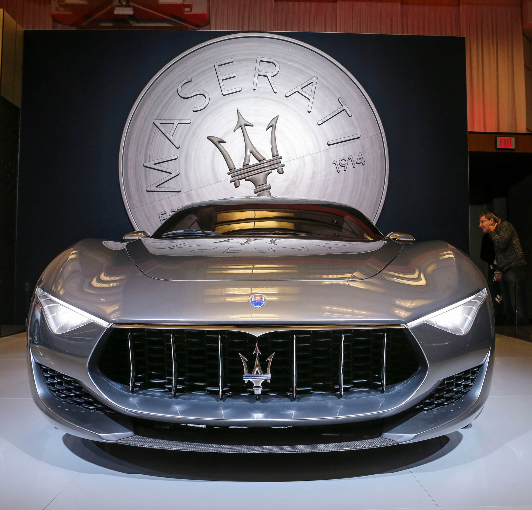 TORONTO, ON- FEBRUARY 17 - The Maserati Alfieri Concept came to the show. AutoExotica brings super luxury cars to the 2015 edition of the Canadian International AutoShow (CIAS) in Toronto it's bright and warm. February 17, 2015