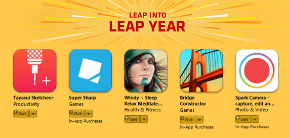 Apple Free Apps Leap Year