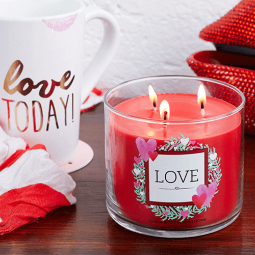 Love 3-wick candle Bath & Body Work Canada Deals SC
