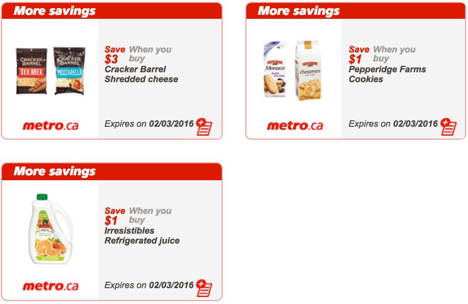 Metro Quebec Coupons